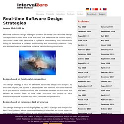 Real-time Software Design Strategies - IntervalZero