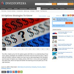 10 Options Strategies To Know Slideshow