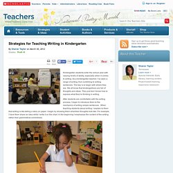 Strategies for Teaching Writing in Kindergarten