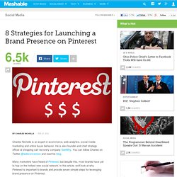 8 Strategies for Launching a Brand Presence on Pinterest