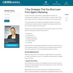 What 7 Key Strategies Must We Learn From Apple Marketing?