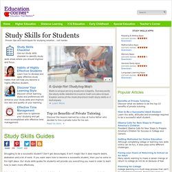 Study Skills Guide: Study Tips, Strategies & Lessons for Students