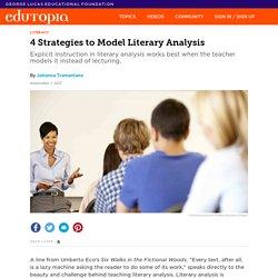 4 Strategies to Model Literary Analysis