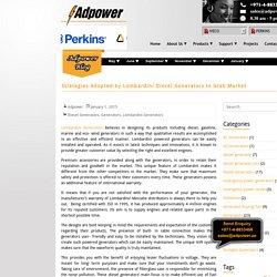 Strategies Adopted by Lombardini Diesel Generators to Grab Market