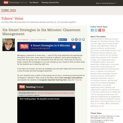 6 Smart Strategies In 6 Minutes: Classroom Management