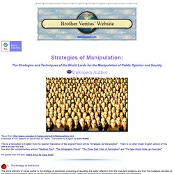Strategies of Manipulation