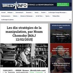 Les dix stratégies de la manipulation, par Noam Chomsky