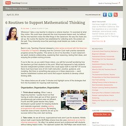 Strategies to Support Mathematical Thinking