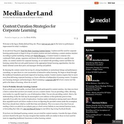 Content Curation Strategies for Corporate Learning « Media1derLand