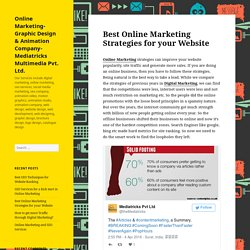 Best Online Marketing Strategies for your Website – Online Marketing- Graphic Design & Animation Company- Mediatricks Multimedia Pvt. Ltd.
