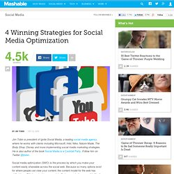 4 Winning Strategies for Social Media Optimization