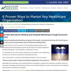 Strategies to Market a Healthcare Organization