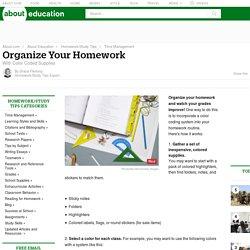 Strategies for How to Organize Your Homework
