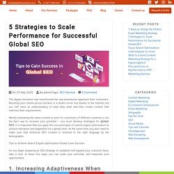 5 Strategies to Scale Performance for Successful Global SEO - Blog