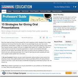 15 Strategies for Giving Oral Presentations