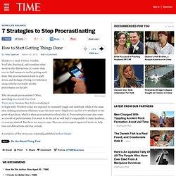 7 Strategies to Stop Procrastinating