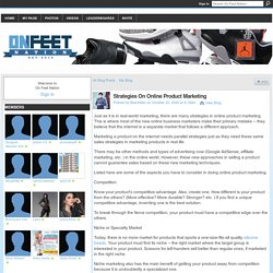 Strategies On Online Product Marketing