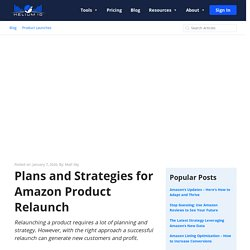 Plans and Strategies for Amazon Product Relaunch