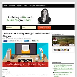 12 Proven List Building Strategies for Professional Bloggers