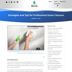 Strategies and Tips for Professional Green Cleaners - Soap Free Procyon