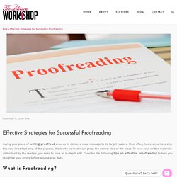 Effective Strategies for Successful Proofreading