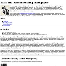 Basic Strategies in Reading Photographs