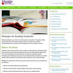 Study Skills: Strategies for Reading Textbooks