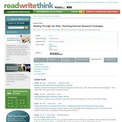 Wading Through the Web: Teaching Internet Research Strategies