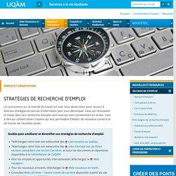 Stratégies de recherche d'emploi - Services à la vie étudiante UQAM