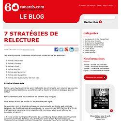 7 stratégies de relecture