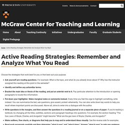 Active Reading Strategies: Remember and Analyze What You Read