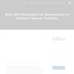 Best SEO Strategies for Restaurants to Enhance Search Visibility