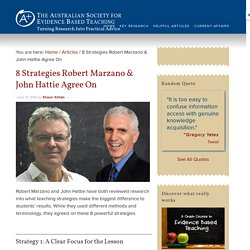 8 Strategies Robert Marzano & John Hattie Agree On