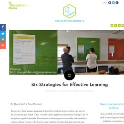 Six Strategies for Effective Learning — The Learning Scientists