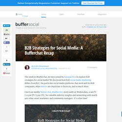 B2B Strategies for Social Media: A Bufferchat Recap