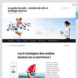 Les 6 stratégies des médias sociaux du e-commerce !