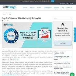 Top 5 IoT-Centric SEO Marketing Strategies -SoftProdigy