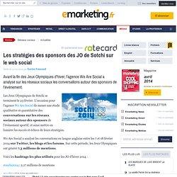 Les stratégies des sponsors des JO de Sotchi sur le web social