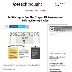 34 Strategies For The Stages Of Assessment: Before, During & After -
