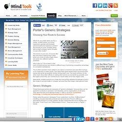 Porter's Generic Strategies - Strategy Skills Training from MindTools.com