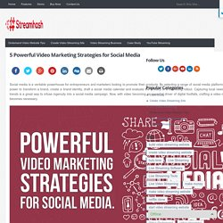 5 Powerful Video Marketing Strategies for Social Media - StreamHash
