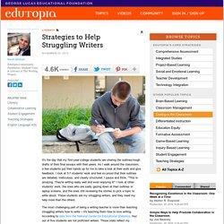 Strategies to Help Struggling Writers