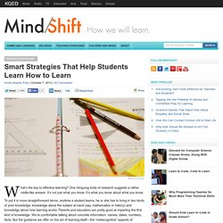Smart Strategies That Help Students Learn How to Learn