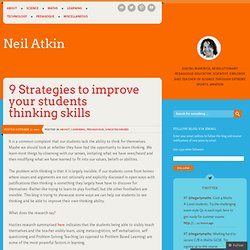 9 Strategies to improve your students thinking skills