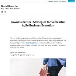 Strategies for Successful Agile Business Execution – David Becattini