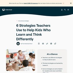 Strategies Teachers Use to Help Kids With Learning and Attention Issues