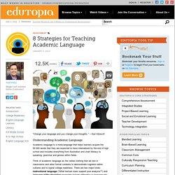 8 Strategies for Teaching Academic Language