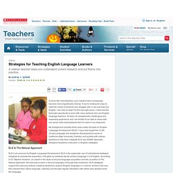 Strategies for Teaching English Language Learners