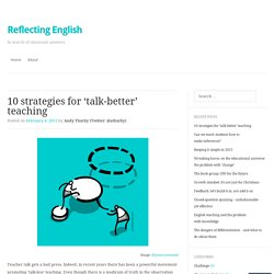 10 strategies for 'talk-better' teaching