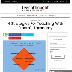 4 Strategies For Teaching With Bloom's Taxonomy
